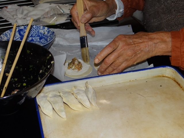 making dumplings